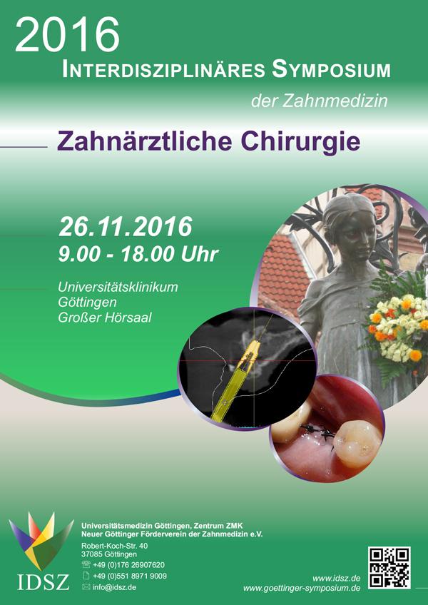 Plakat des 3. Symposium der Zahnmedizin in Göttingen